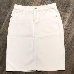 White Stretch High-Rise Skirt